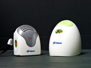 ロゴを印刷した電気(電池)蚊取り器のケースの写真