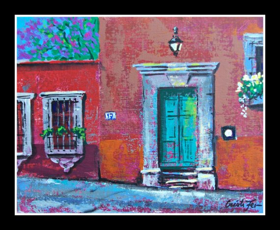 ... colorful painting of a Mexican door. No experience needed! It\u0027s easy and fun! Bring your friends and family and have a fun day at Cristi Fer Art Studio.  sc 1 st  Cristi Fer Art Gallery and Workshops San Miguel de Allende Mexico & Cristi Fer Art Gallery and Workshops San Miguel de Allende Mexico ...