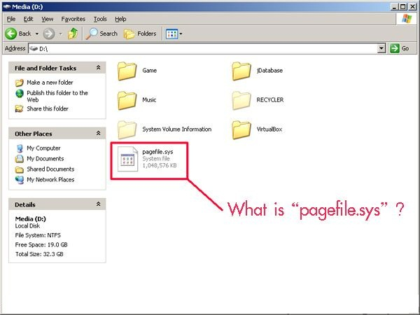 how to delete pagefile sys windows 7