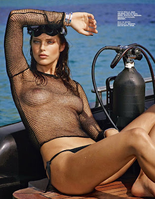 Emily DiDonato topless in Lui Magazine July/August 2014