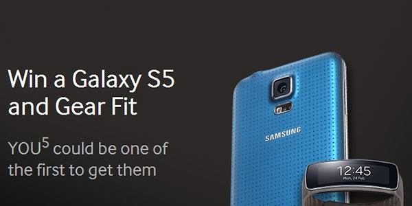 Win a Galaxy S5 and Gear Fit in UK from Samsung