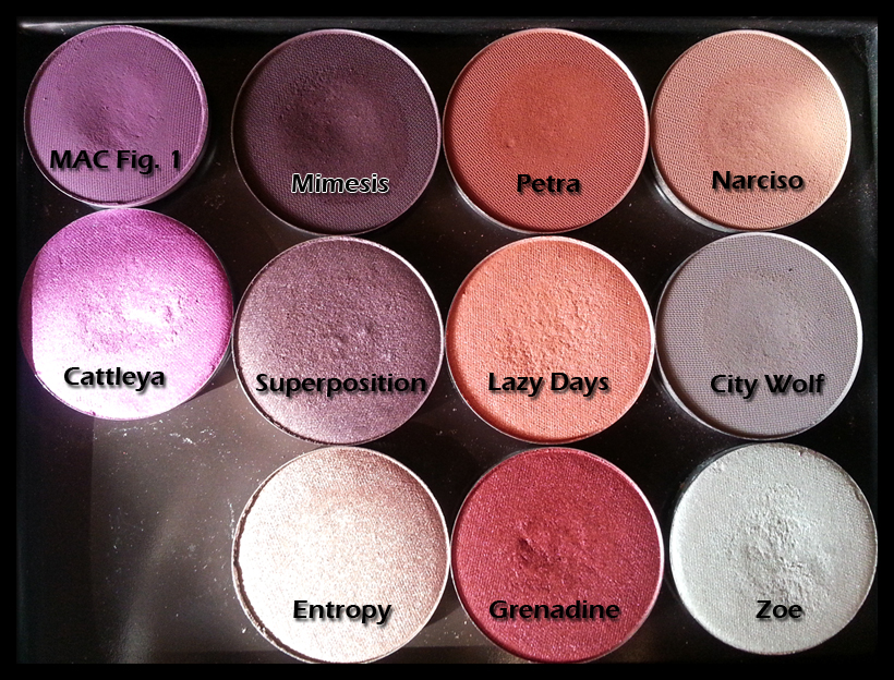 Nabla Cosmetics - Liberty 12 contenente Cattleya, Mimesis, Superposition, Entropy, Petra, Lazy Days, Grenadine, Narciso, City Wolf, Zoe e MAC Fig. 1