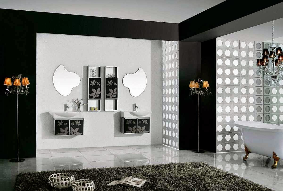 Contemporary Black And White Bathroom Decor Ideas And Designs