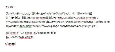 Universal Analytics Code