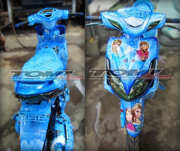 Modifikasi Yamaha Xeon, Airbrush Frozen