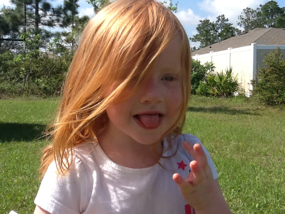 Happy Birthday Little Girl Red Head Picture