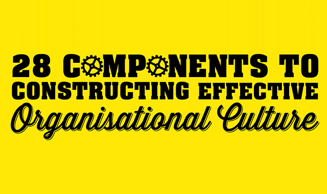 28 Components to Constructing Effective Organisational Culture
