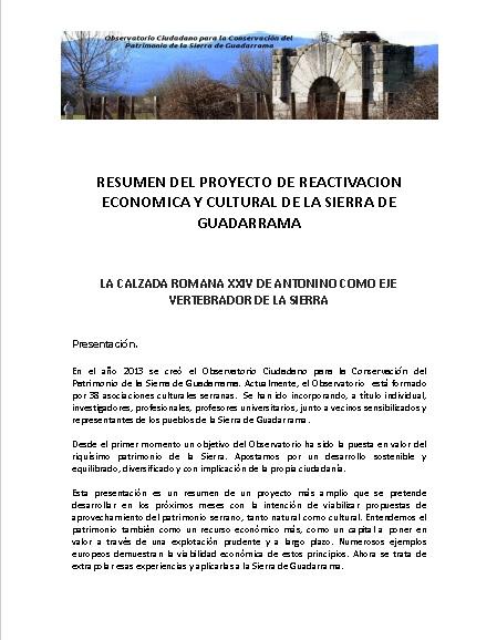 Resumen Proyecto Calzada Romana XXIV de Antonino