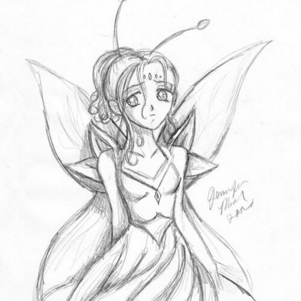Fairy Anime Drawings In Pencil