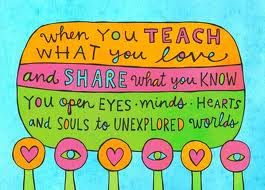 Image of a saying about sharing your passion for teaching.