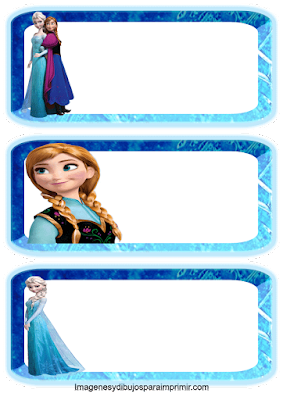 Anna y Elsa en etiquetas
