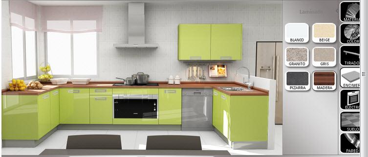 Dise ar cocina hacer los planos y elegir estilos y for Como disenar una cocina integral pequena