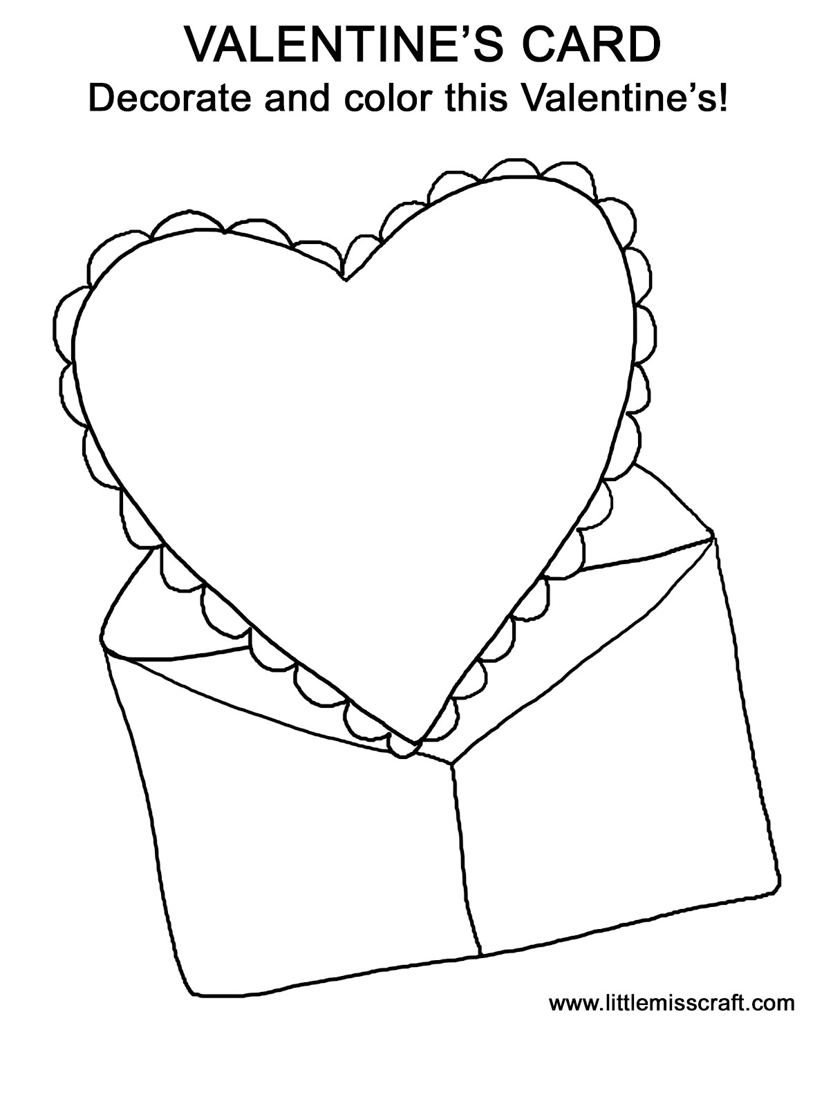 Valentine card coloring pages for Card coloring pages