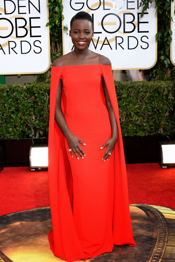 2014 Golden Globes Best Dressed Lupita Nyong'o in Ralph Lauren