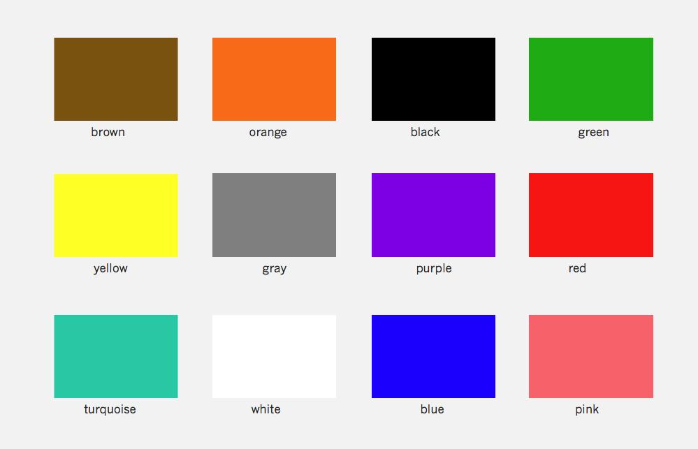 7 Rainbow Colours Names