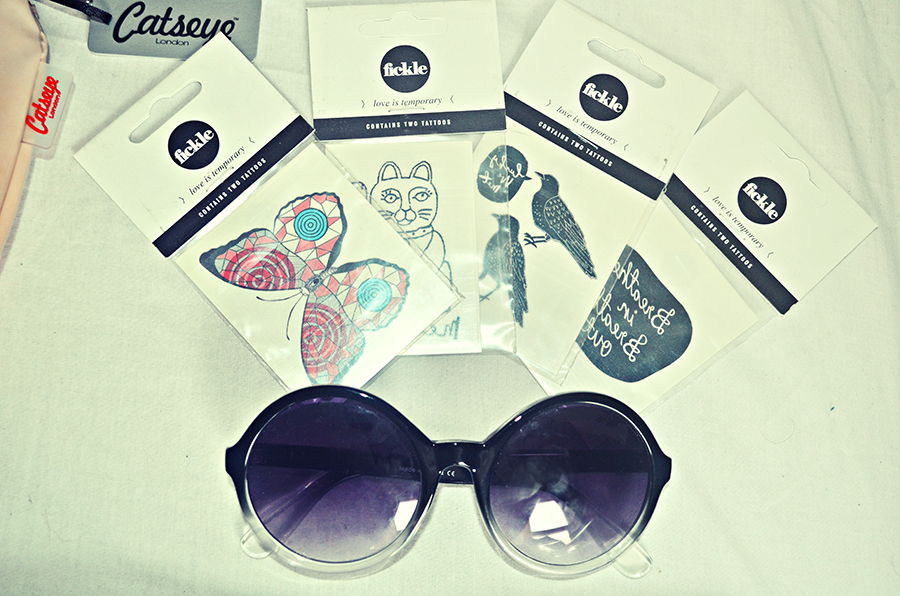 Fickle Tattoos, Urban Outfitters sunglasses, uk fashion blog