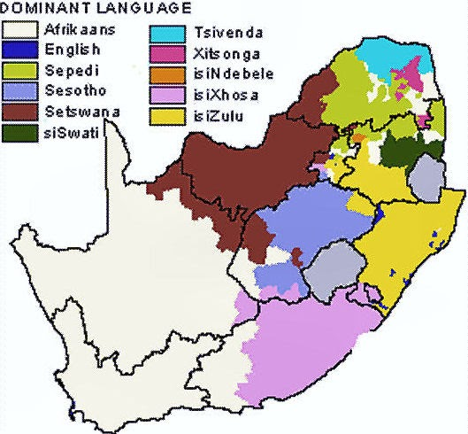 The Polyglot Blog: Language Maps of South Africa Namibia and ...
