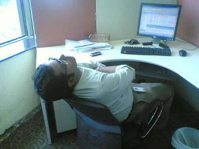 http://meandmysansar.blogspot.com - sleeping in office
