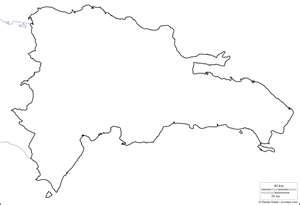 Mapa para pintar, República Dominicana