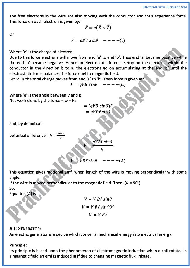 magnetism-and-electromagnetism-theory-notes-physics-12th