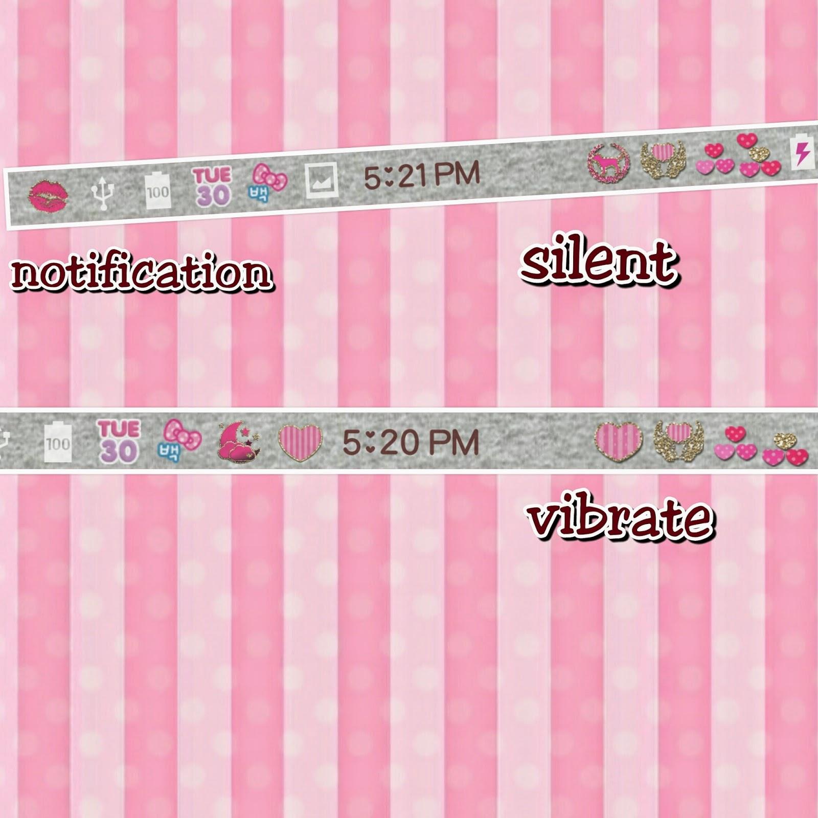 Pink theme cool bar Carbon Love Pink Love Pink Girl Power V2 Color Status Bar Theme