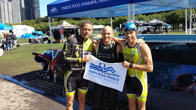 The Probert brothers at the Endless Pools booth at the ITU World Triathlon Grand Final Chicago.