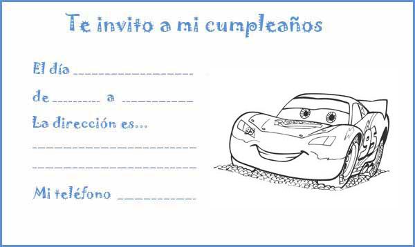 Manualidades con mis hijas: Invitaciones de cumpleaños - Cars ...