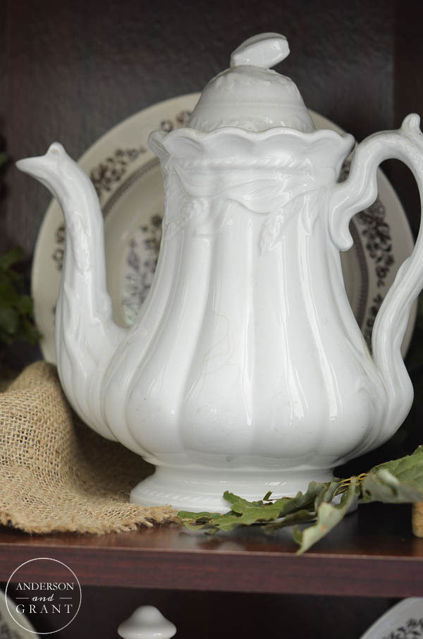 Vintage ironstone teapot  |  anderson + grant