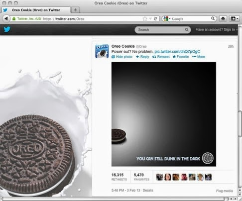 oreo super bowl tweet twitter
