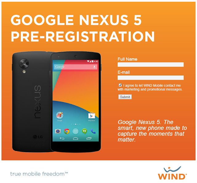 Google Nexus 5 Wind Listing