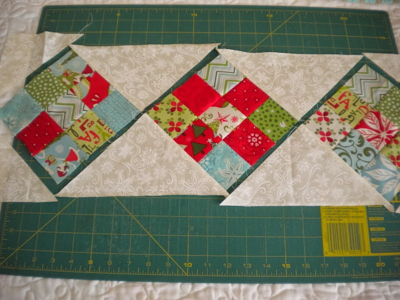Scrappy 9-Patch Table Runner Tutorial | A Quilting Life - a quilt blog : quilted table runner tutorial - Adamdwight.com