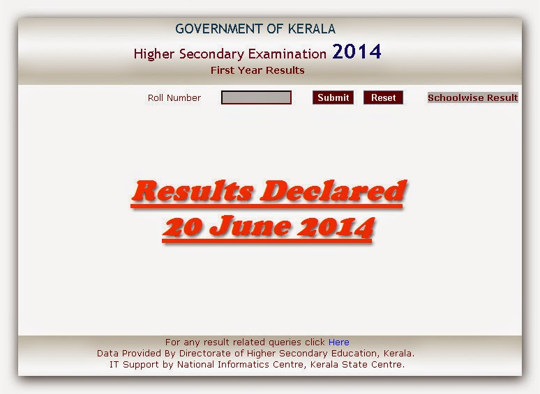 dhse result 2014