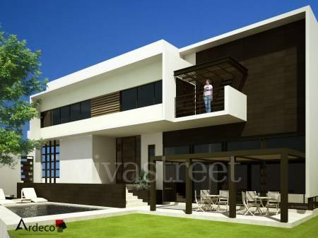 Fachadas de casas modernas fachada contempor nea en for Fachadas de casas minimalistas con balcon