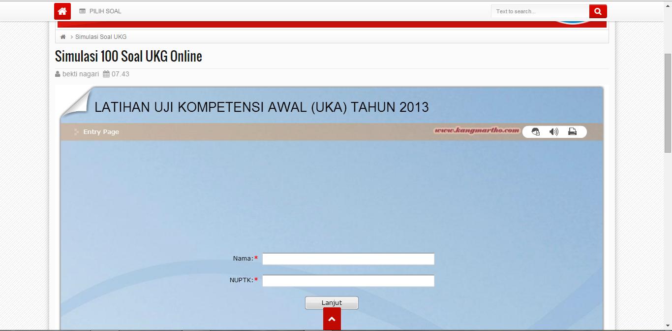 Aplikasi Simulasi Ukg 2015 Online Berbasis Website
