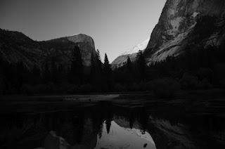 Black and white mirror lake