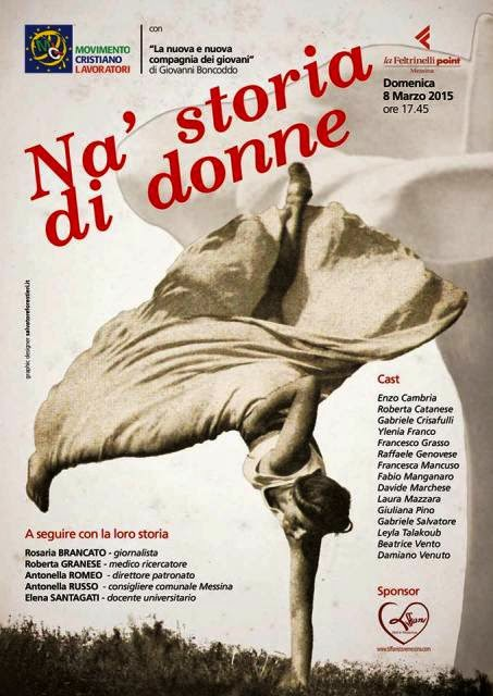 "8 MARZO AL FELTRINELLI POINT MESSINA CON ""NA STORIA DI DONNE"""