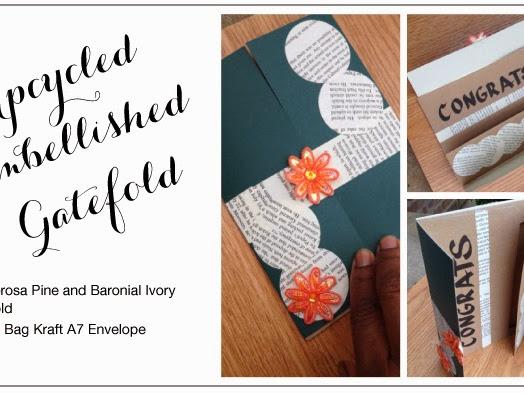 Upcycled Embellished Gatefold
