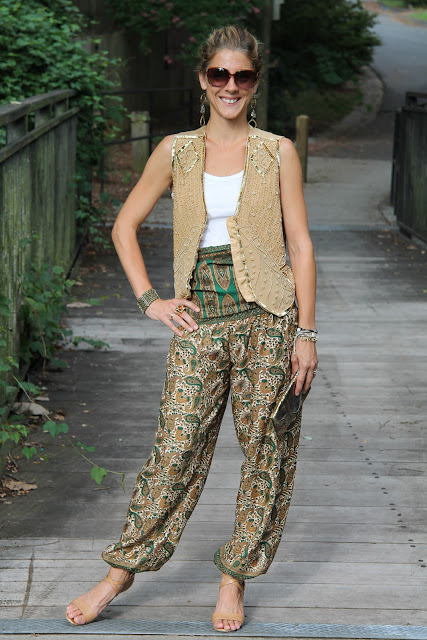 Vest c/o Cigi Guz, Harem Pants from Woman Shops World
