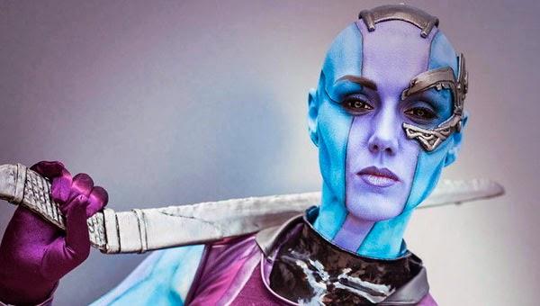 Increíble cosplay de Nébula de 'Guardianes de la Galaxia'