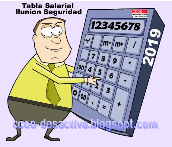 Tabla Salarial 2019 Ilunion Seguridad