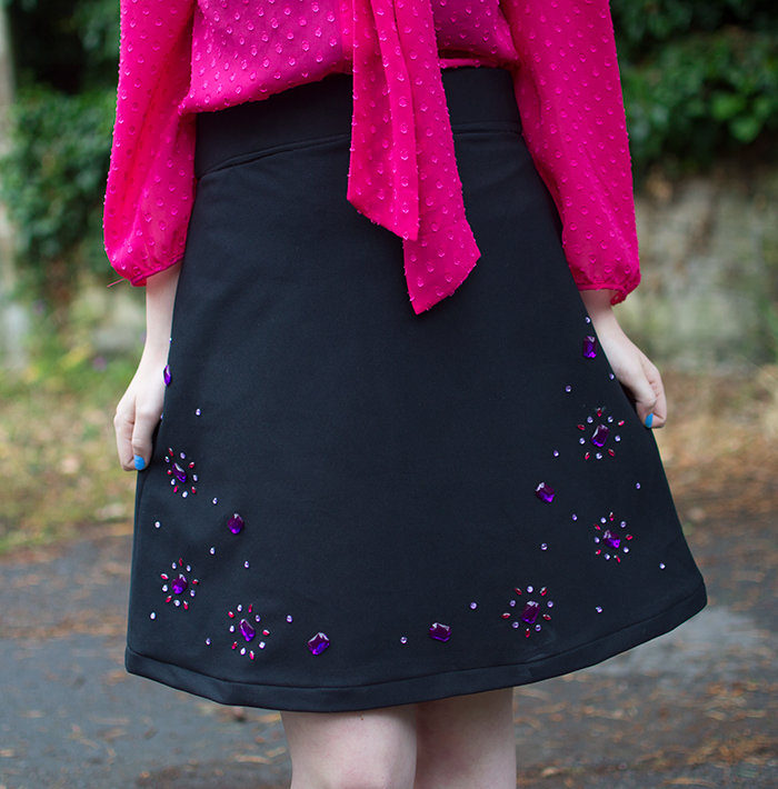 HOW TO MAKE A DIY EMBELLISHED GEM SKIRT