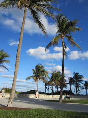 South beach, around 13th, is a great place to people watch and relax