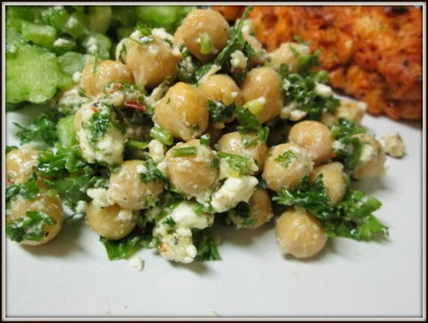 Chickpea, Feta, and Parsley Salad