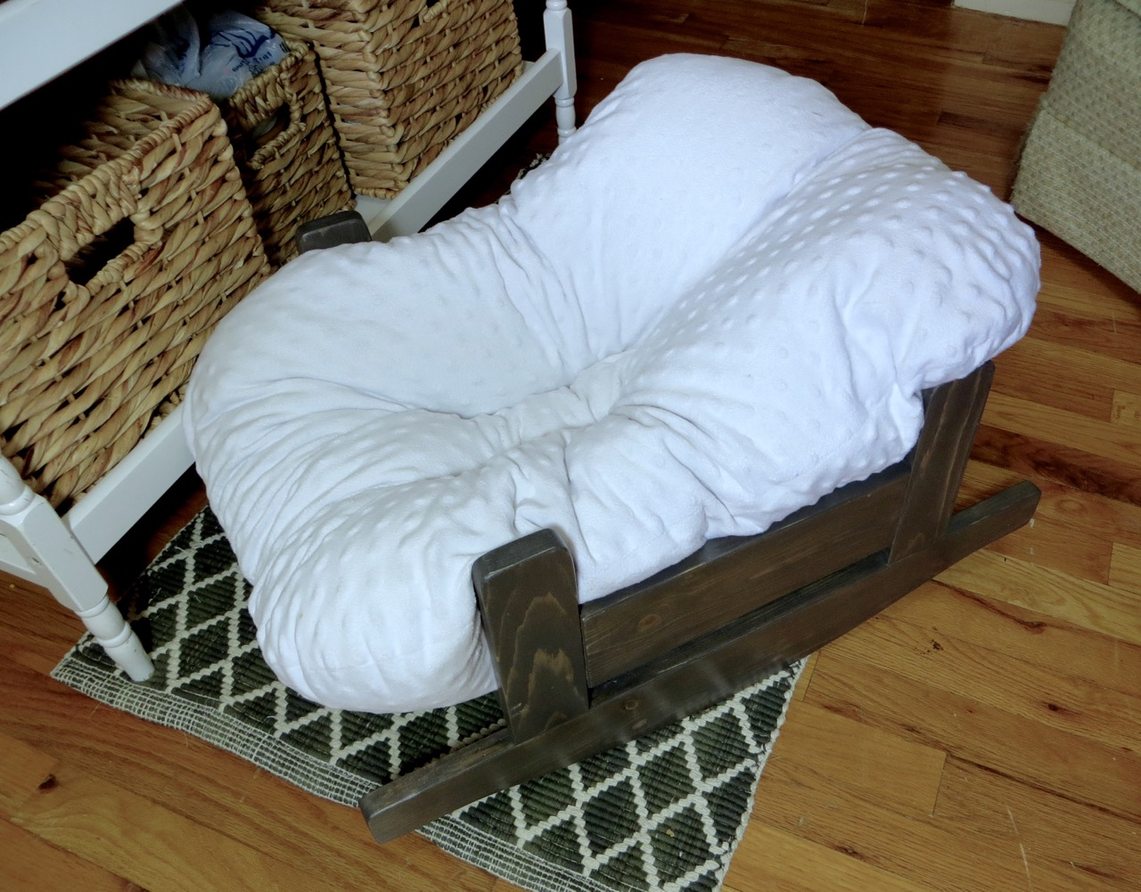 DIY Wooden Baby Pillow Rocker Bassinet Lounger | The Project Lady