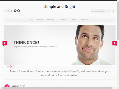 Simple and Bright Blogger Template
