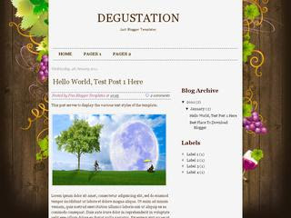 Degustation blogger template