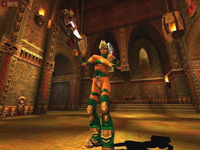 Quake 3 Arena game play screen