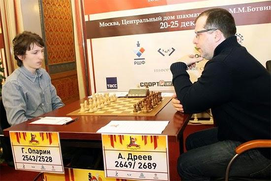 Le match des générations entre Oparin et Dreev © site officiel