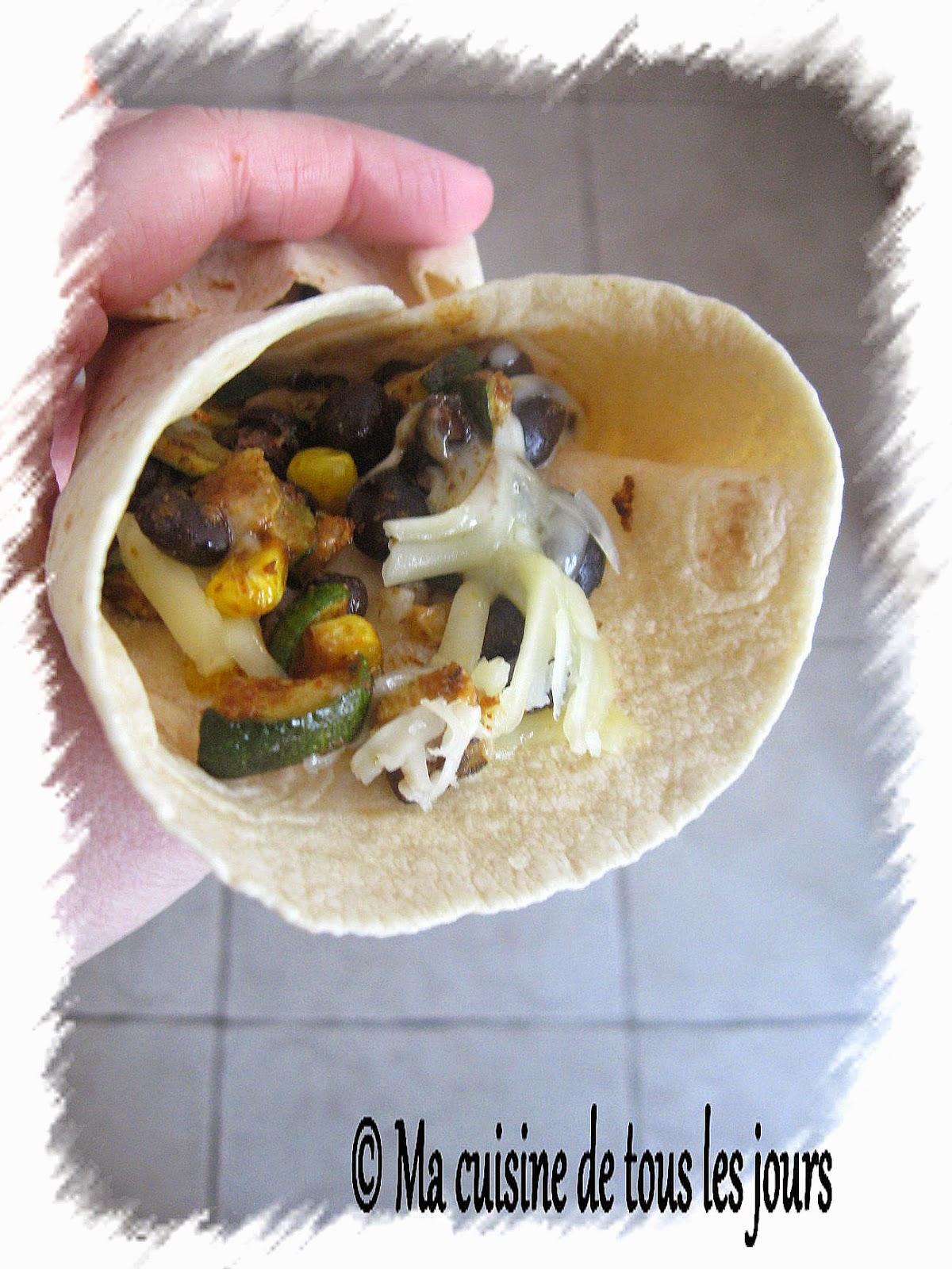 Tacos au ma s et courgette grill s for Assaisonnement tacos maison