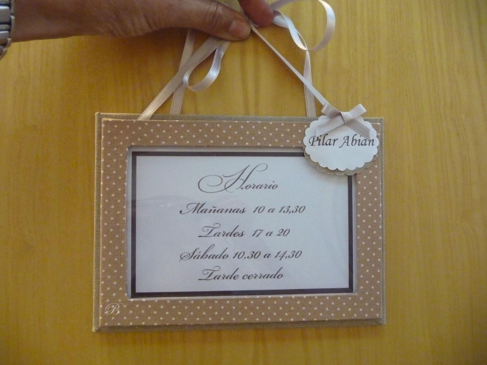 Las manualidades de blanca cartel horario y caja for La caja sucursales horarios
